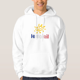 Le Soleil The Sun in French Summer Vacation Hoodie
