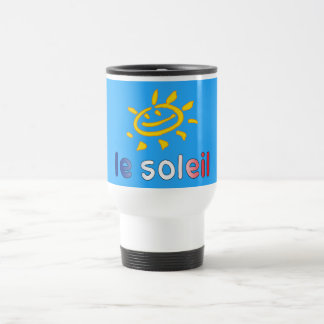 Le Soleil The Sun in French Summer Vacation Travel Mug