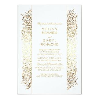 Le souffle vintage du bébé d'or - mariage en carton d'invitation  12,7 cm x 17,78 cm