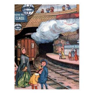 """""""Le souterrain, illustration vintage de Londres"""" Cartes Postales"""