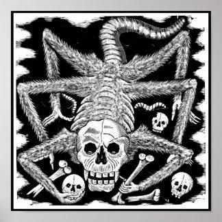 Le squelette d'araignée poster