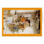 Le studio de l'artiste cartes de vœux