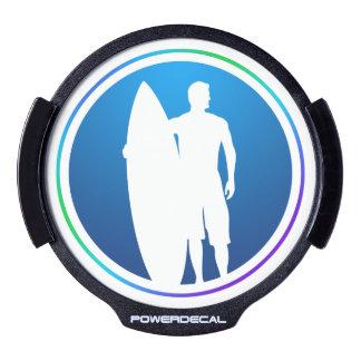 Le surfer allument le décalque de voiture de LED Autocollant Pour Fenêtre LED
