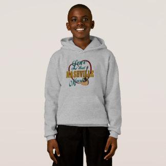 Le sweat - shirt à capuche de l'enfant de musique