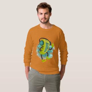 Le sweatshirt de baladeur de musique des hommes
