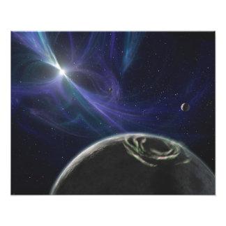 Le système de planète de pulsar photographie d'art