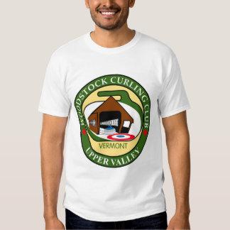 Le T-shirt blanc des hommes de bordage de club de