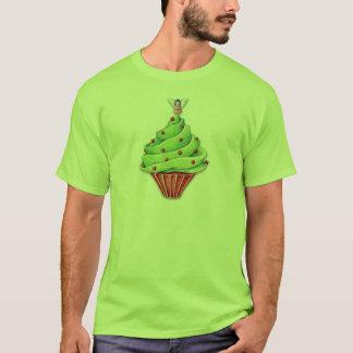 Le T-shirt d'hommes verts de petit gâteau d'arbre
