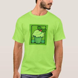 Le T-shirt d'hommes verts de petit gâteau de houx