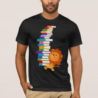 Le T-shirt vorace de lecteur (lion mignon de bande