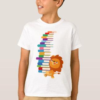 Le T-shirt vorace d'enfants de lecteur (lion de