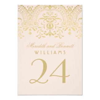 Le Tableau le numéro   de mariage rougissent Carton D'invitation 12,7 Cm X 17,78 Cm