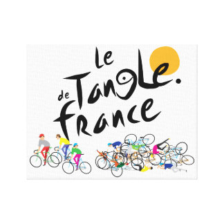 Le Tangle de France (Le Tour de France) on Canvas