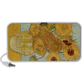 Le téléphone de TOURNESOLS de Van Gogh enferme et  Haut-parleur Pour iPhone