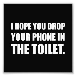 Le téléphone tombe dans la toilette photo d'art