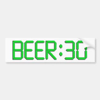 Le temps est la bière 30 autocollant de voiture