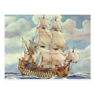 Le Terrible, Warship of Louis XIV Postcard