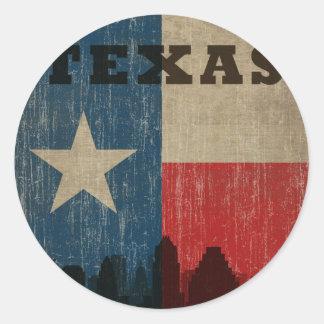Le Texas vintage Sticker Rond
