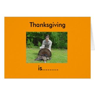 Le thanksgiving, est ......... carte de vœux