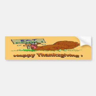 Le thanksgiving mangent du porc autocollant pour voiture