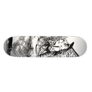 Le thé du chapelier fou skateboards customisés