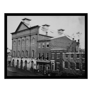 Le théâtre de Ford, scène de la mort 1865 de Linco Affiche