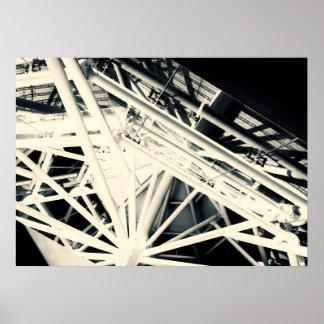 Le toit d'araignée se pavane l'affiche d'art