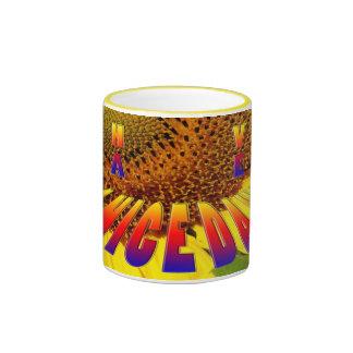 le tournesol ont une tasse de beau jour