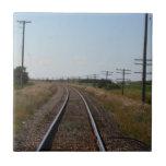 Le train dépiste la tuile carreau