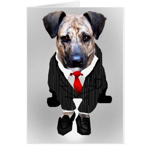 le travail aiment dedans un chien carte