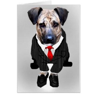 le travail aiment dedans un chien carte de vœux