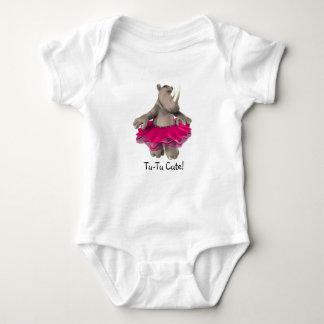Le TU-TU mignon ! Blanc de T-shirt de bébé de