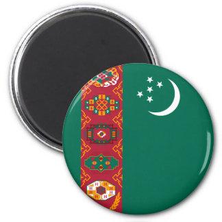 le Turkménistan Magnet Rond 8 Cm