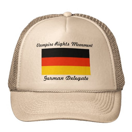 Le vampire redresse le mouvement - Allemagne Casquettes