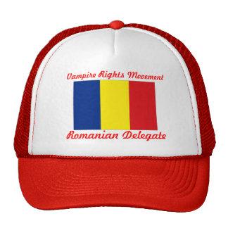 Le vampire redresse le mouvement - délégué roumain casquette