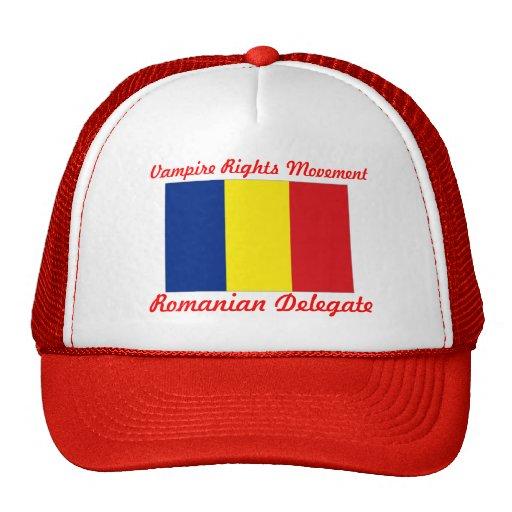 Le vampire redresse le mouvement - délégué roumain casquettes de camionneur