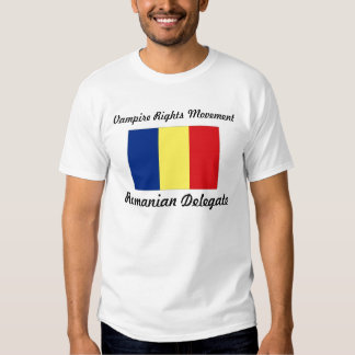 Le vampire redresse le mouvement - délégué roumain t-shirts