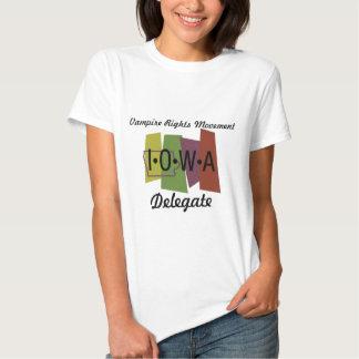 Le vampire redresse le mouvement - Iowa T-shirts