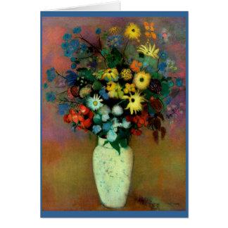 Le vase d'Odilon Redon avec Flowers (1914) Carte De Vœux