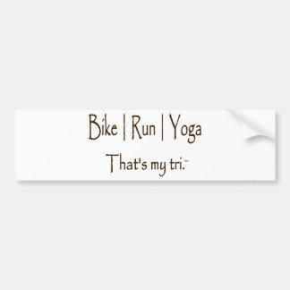 Le vélo | courent le yoga de | autocollant de voiture