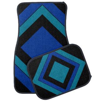 Le velours bleu de couleur de mélange de lux tapis de sol