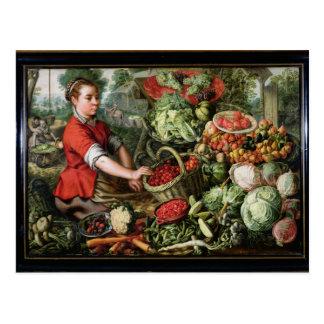 Le vendeur végétal cartes postales