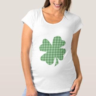 Le vert vérifie la chemise de maternité de t shirts