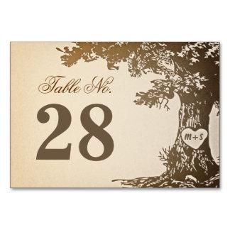 Le vieux nombre de Tableau de mariage d arbre card