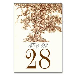 Le vieux nombre de Tableau de mariage d'arbre card