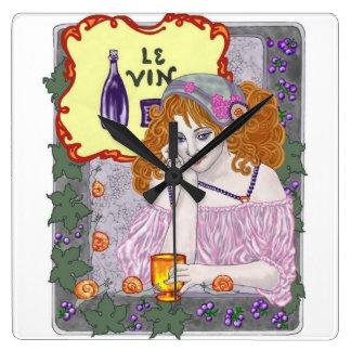 Le Vin Again Wall Clock