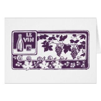 Le Vin, Vintage Wine Label Card