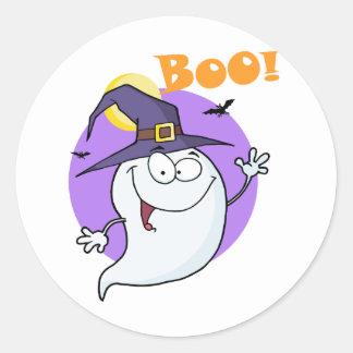 Le vol de fantôme de Halloween dans la nuit et le  Autocollants
