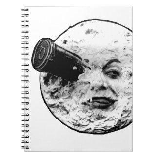 Le Voyage Dans La Lune (Face Only) Spiral Notebook