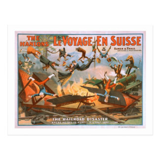 Le voyage en Suisse - The Railroad Disaster Postcard